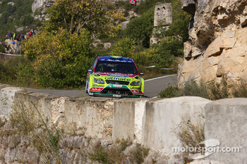 Khalid Al Qassimi and Michael Orr, BP Ford Abu Dhabi World Rally Team Ford Focus RS WRC 08