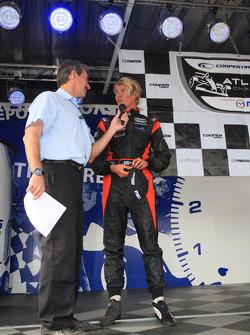 Podium: third place Markus Niemela, Jensen MotorSport