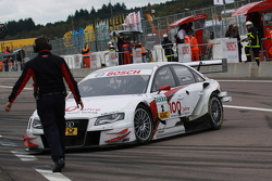 Tom Kristensen, Audi Sport Team Abt Audi A4 DTM out of the race