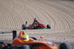Crash of Marco Wittmann, Muecke Motorsport Dallara F308 Mercedes