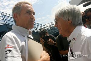 FOTA Chairman Martin Whitmarsh and Bernie Ecclestone
