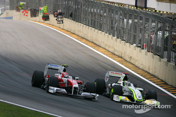 Kamui Kobayashi, Toyota F1 Team and Jenson Button, Brawn GP