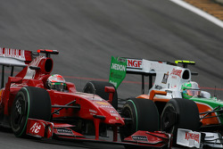 Giancarlo Fisichella, Scuderia Ferrari and Vitantonio Liuzzi, Force India F1 Team