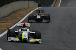 Jenson Button, Brawn GP and Sebastian Vettel, Red Bull Racing