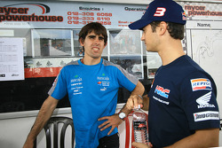 Go-kart event: Dani Pedrosa with Julian Simone