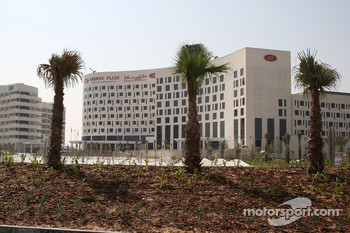 The New Abu Dhabi Yas Marina Circuit, new hotels built by the circuit, the Crowne Plaza
