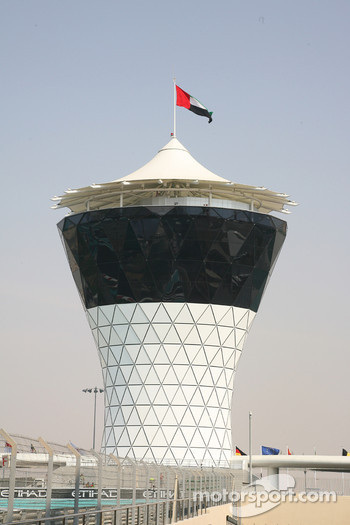 The control tower of the New Abu Dhabi Yas Marina Circuit