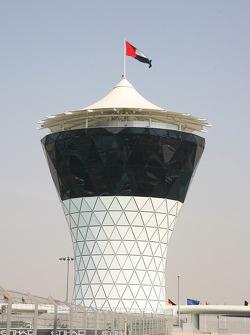 The control tower of the New Abu Dhabi Yas Marina Circuit
