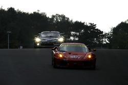 #56 CRS Racing Ferrari F430: Andrew Kirkaldy, Rob Bell, #3 SRT Corvette C6R: Bert Longin, James Ruffier