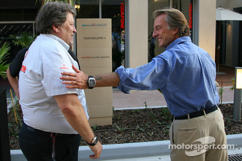 Norbert Haug, Sporting Director Mercedes-Benz with Luca di Montezemolo, Scuderia Ferrari, FIAT Chairman and President of Ferrari