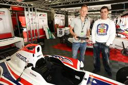 Shane Byrne former British Superbike Champion with Fonsi Nieto World Superbike Rider