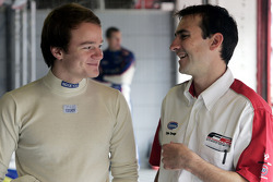 Tobias Hegewald talks with Chris Dredge Formula Two Championship Co-ordinator