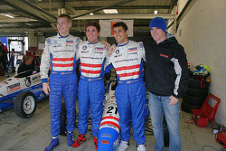 Josef Newgarden, Connor de Phillippi, Brett Smrz and Connor Daly