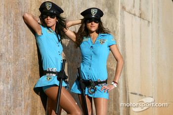 The charming Rizla Suzuki MotoGP girls