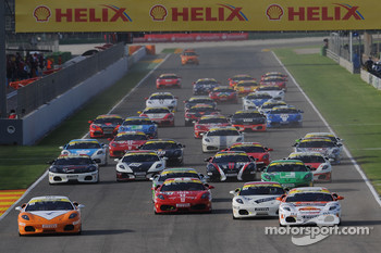 Ferrari Challenge: FCE and FCNA race 2 start