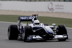 His Highness Sheikh Khalid bin Hamad Al-Thani of Qatar test drives the Williams-Toyota FW31