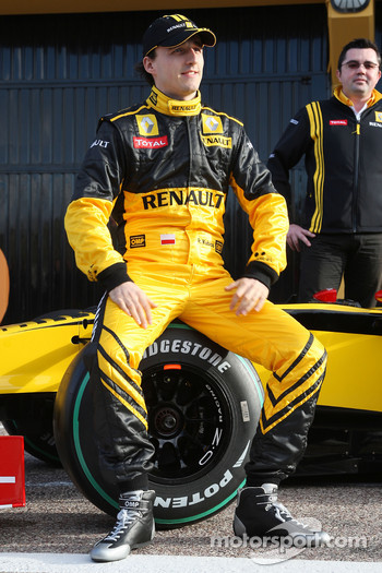 Robert Kubica, Renault F1 Team- Renault F1 Team Launch