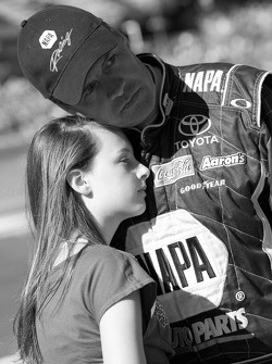 Michael Waltrip, Michael Waltrip Racing Toyota shares a moment with his daughter