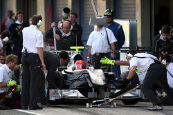 Michael Schumacher, Mercedes GP, practice pitstops