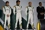 Jarno Trulli, Farius Fauzy, Heikki Kovalainen and Tony Fernandes