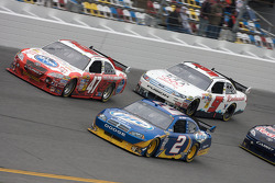 Kurt Busch, Penske Racing Dodge, Marcos Ambrose, JTG Daugherty Racing Toyota and Kasey Kahne, Richard Petty Motorsports Ford