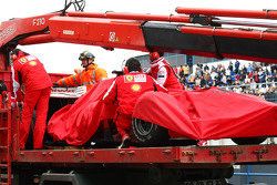 Felipe Massa, Scuderia Ferrari car is brought back to the pits