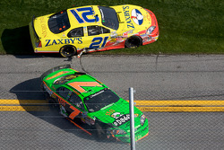 Danica Patrick and John Wes Townley crash