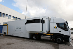 The truck of the Lotus F1 Team