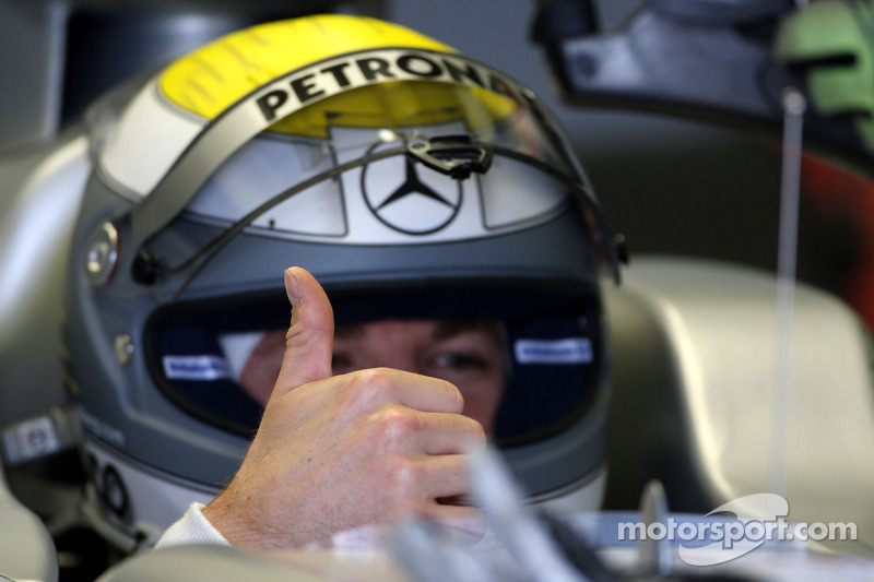 Nico Rosberg, Mercedes GP Petronas, thumbs up