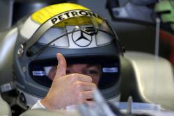 Nico Rosberg, Mercedes GP Petronas, thumbs up