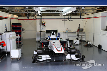 The empty garage of the BMW Sauber F1 Team