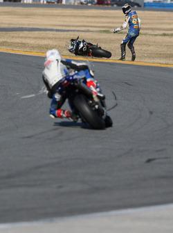 Shawn Higbee crashes
