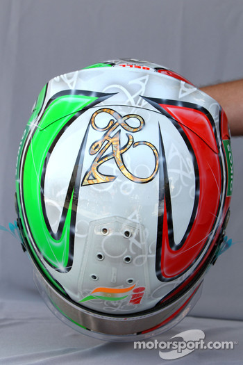 Helmet of Vitantonio Liuzzi, Force India F1 Team