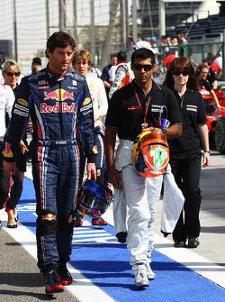 Mark Webber, Red Bull Racing and Karun Chandhok, Hispania Racing F1 Team