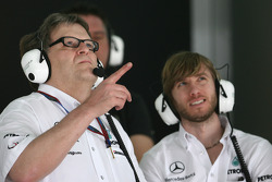 Norbert Haug, Mercedes, Motorsport chief and Nick Heidfeld, Test Driver, Mercedes GP