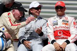 John Surtees, 1964 F1 World Champion, Emerson Fittipaldi, 1972 and 1974 F1 World Champion, Lewis Hamilton, McLaren Mercedes