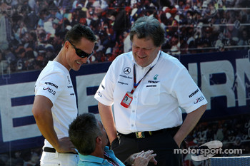 Michael Schumacher, Mercedes GP, Mick Doohan, Norbert Haug, Mercedes, Motorsport chief