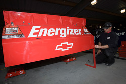 The new spolier on the car of Juan Pablo Montoya, Earnhardt Ganassi Racing Chevrolet
