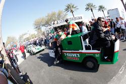 Cars are taken to pitlane