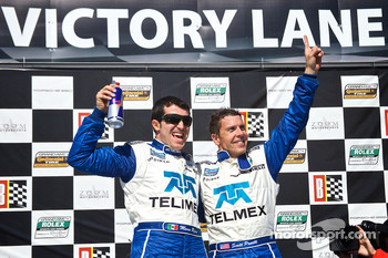 DP podium: class and overall winners Memo Rojas and Scott Pruett