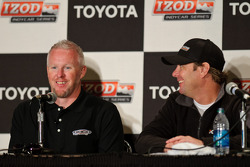 Paul Tracy and Jimmy Vasser in the Tracy-KVRT press conference