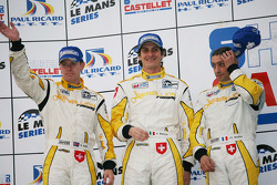 LMP1 podium: third place Andrea Belicchi, Jean-Christophe Boullion and Guy Smith