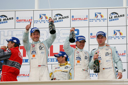 LMP1 podium: second place Adrian Fernandez, Harold Primat and Stefan Mücke