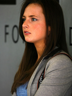 Laura, girlfriend of Paul di Resta, Team HWA AMG Mercedes