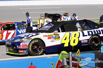 Car of Jimmie Johnson, Hendrick Motorsports Chevrolet on the grid