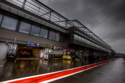 Menacing sky over the Spa pitlane