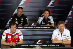 Aldo Costa, Scuderia Ferrari, Nick Wirth, Technical Director, Virgin Racing, Sam Michael, WilliamsF1 Team, Technical director, Ross Brawn Team Principal, Mercedes GP