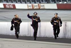Denny Hamlin's crew celebrates