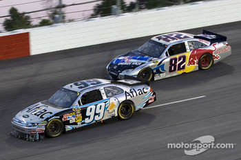 Carl Edwards, Roush Fenway Racing Ford and Scott Speed, Red Bull Racing Team Toyota