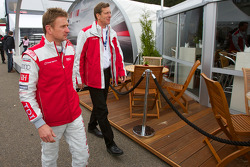 Audi meet the drivers event: Allan McNish and Ralf Juttner